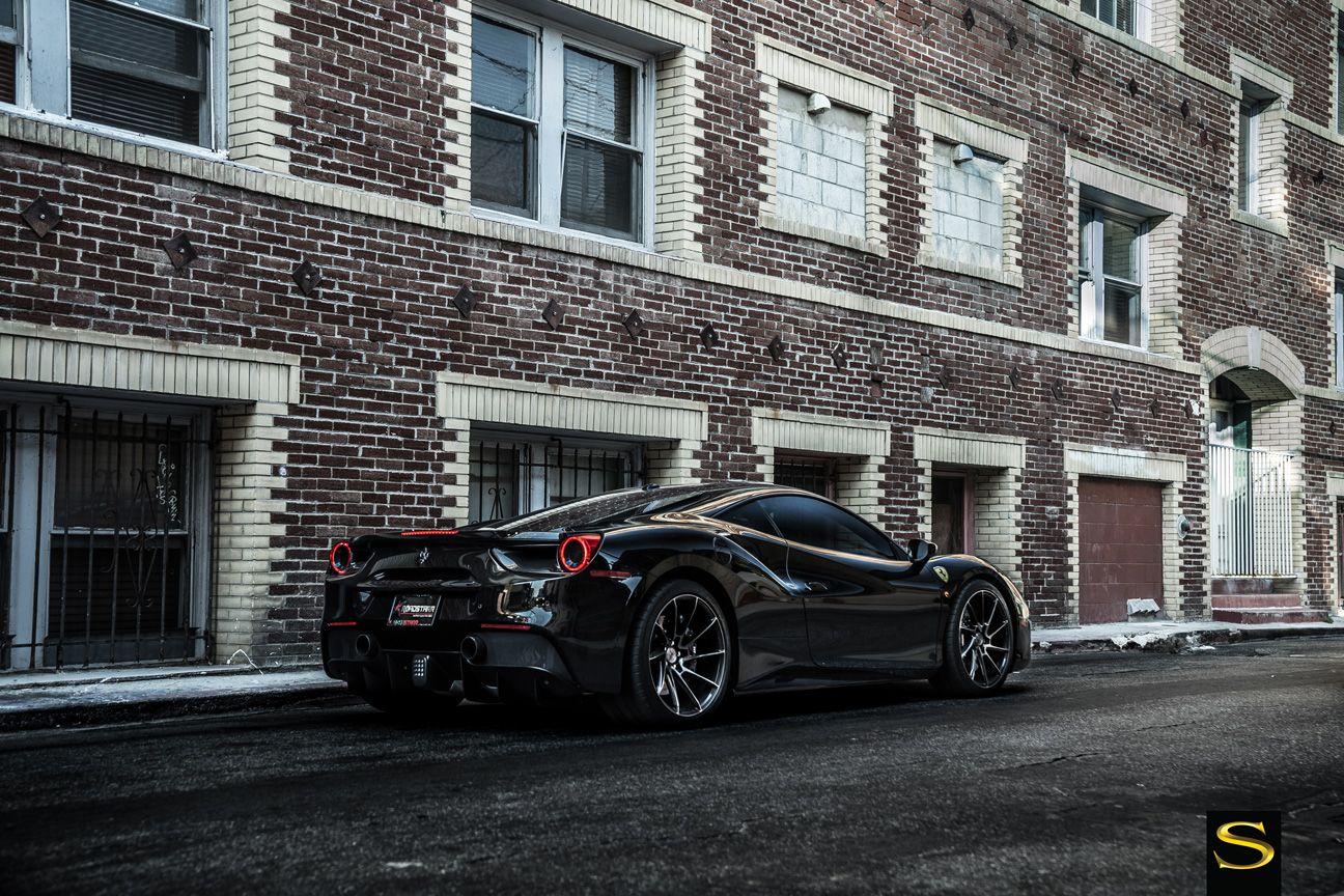 Ferrari 488 On Black Di Forza Bm15 Black Gloss Double Dark Tint