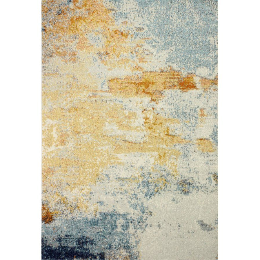 Sylvaner Blue Yellow Ivory Area Rug Home Pinterest Rugs Area