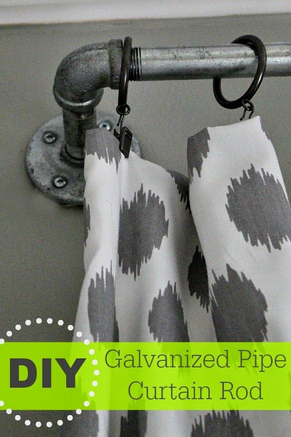 Diy Galvanized Curtain Rods Southern State Of Mind Curtain