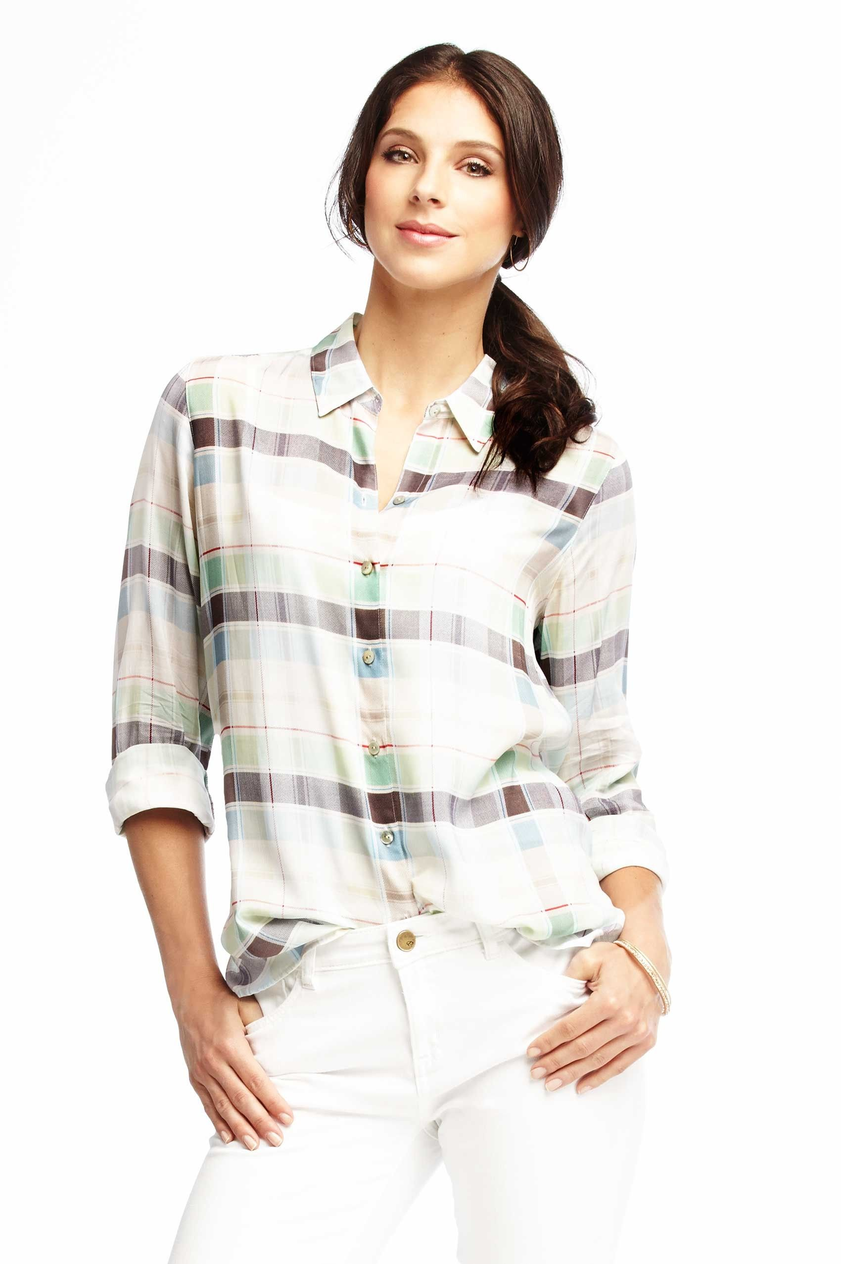 Soft Plaid Blouse