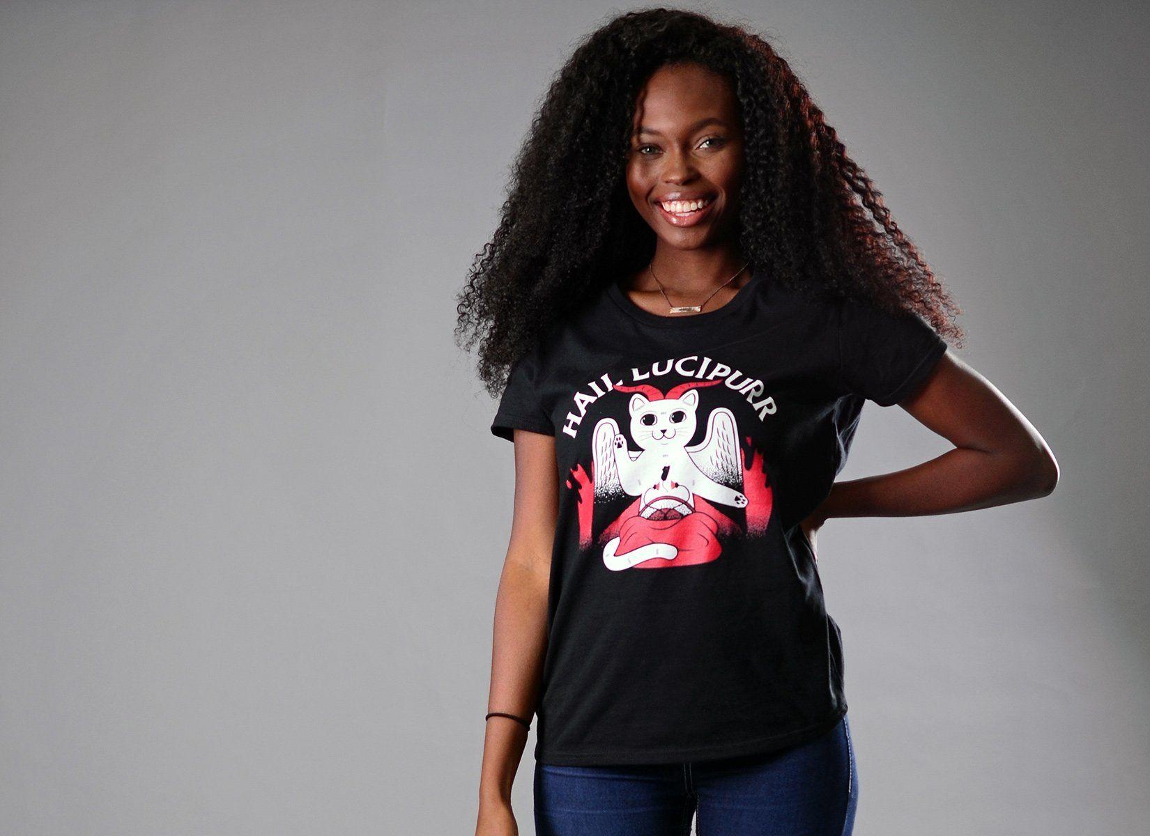 Hail Lucipurr T Shirt Snorgtees In 2020 Gray Hoodies Heather Gray Tee Shirts