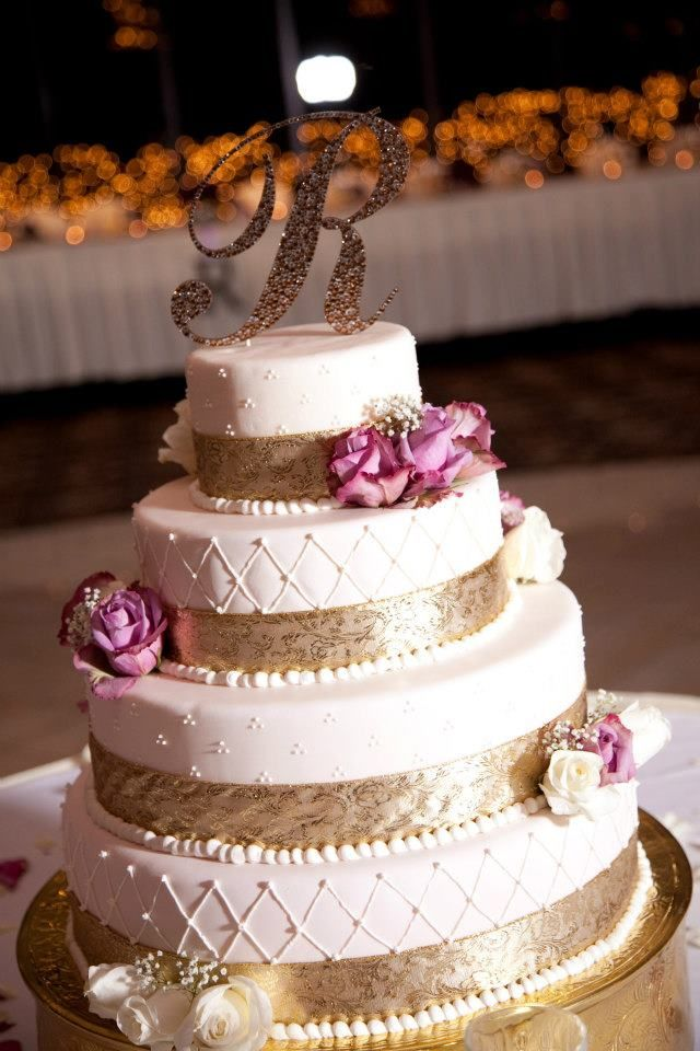 Wedding Cake Purple Gold My Ing Most Of It On