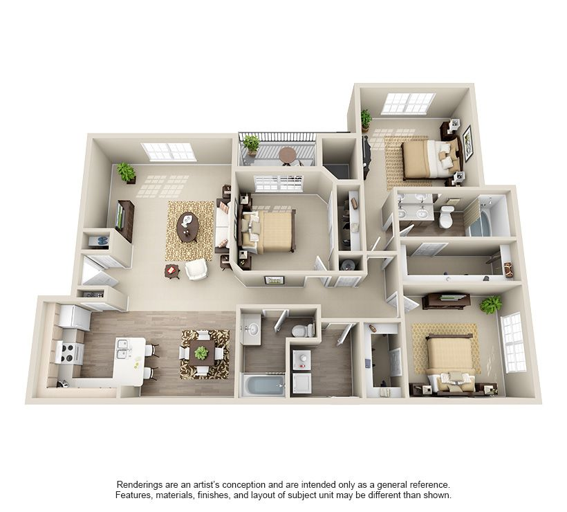 One Two Three And Four Bedroom Apartments In Oklahoma City Oklahomacity Oklahoma Apartment Steadfas House Layouts House Layout Plans Sims House Design