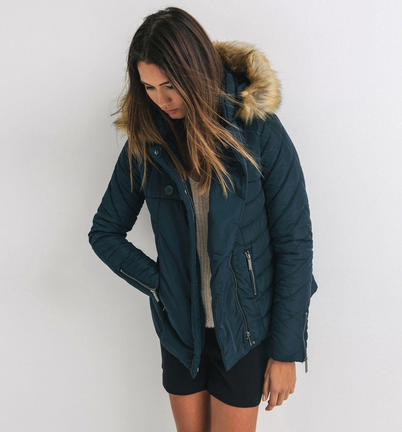 Manteau femme doudoune capuche mode