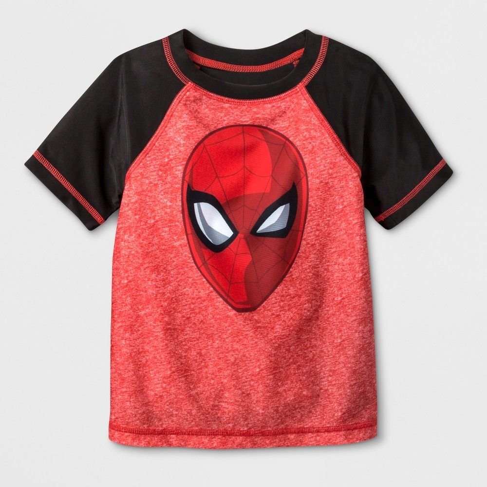 Disney Store Marvel Spider-Man Costume Rash Guard Swim Shirt Boy Size 4