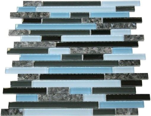 Zen Cafe Blue Blend 12x12 Mesh Mounted Granite Glass Mosaic Tile Zen Cafe Blue Blend 12 In X 12 In Mesh Mounted Blue Pearl Granite Granite Tile Glass Tile