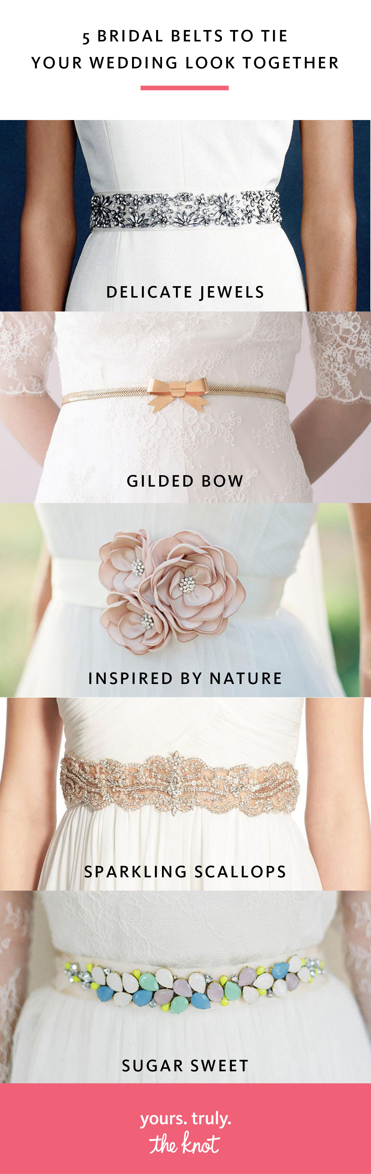 5 Bridal Belts to Tie Your Wedding Look Together | Pinterest