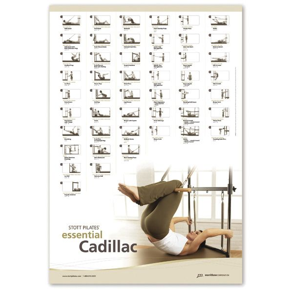 Pilates Mat Exercise Poster: Wall Chart - Essential Cadillac