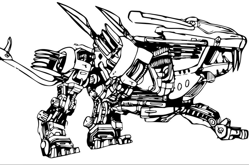 trigun coloring pages | Zoids Coloring Pages Coloring Pages