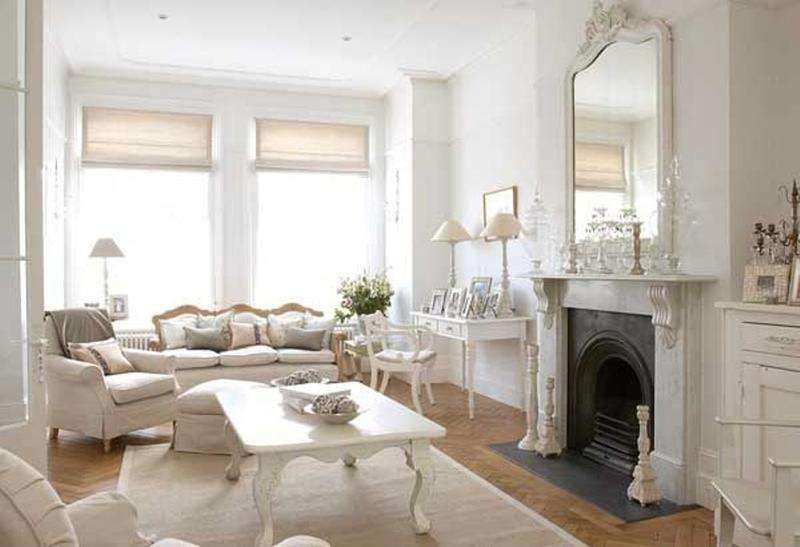 Idee per arredare un soggiorno in stile shabby chic - Soggiorno in ...
