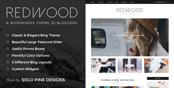 Redwood – A Responsive WordPress Blog Theme | Pinterest