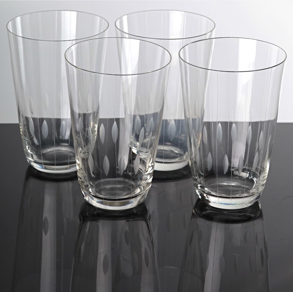 Wassergläser details zu 4 zarte becher gläser wassergläser saftgläser kristall