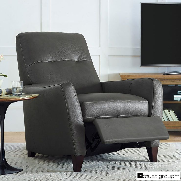 Natuzzi Grey Leather Pushback Recliner Armchair Costco Uk Grey Leather Armchair Grey Leather Sofa Leather Reclining Sectional Sofa