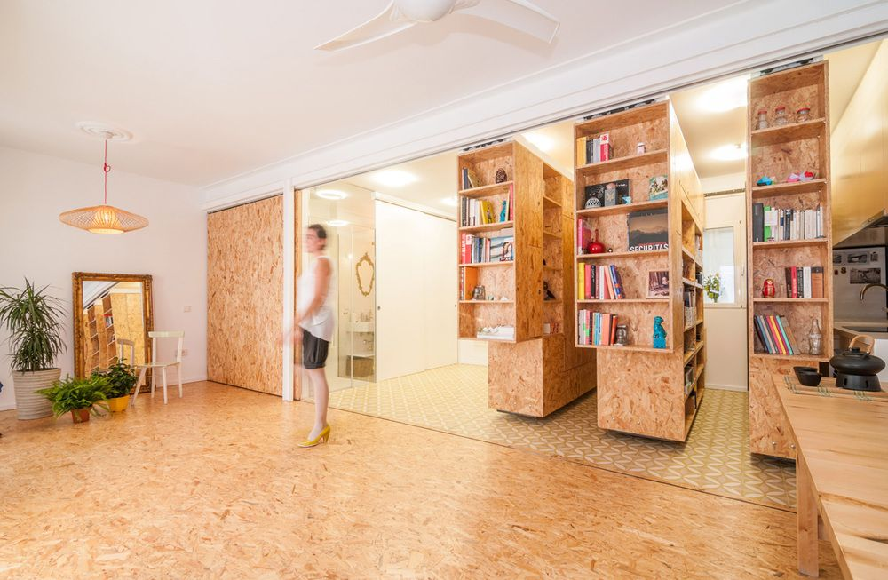 Casa Yolanda Plywood Design Movable Walls Small Apartments