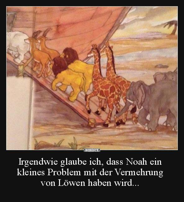 Irgendwie glaube ich, dass Noah ein kleines Problem mit.. | Lustige Bilder, Sprüche, Witze, echt lustig