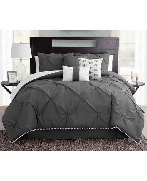Sanders Pom Pom Seven Piece Queen Size Comforter Set Reviews