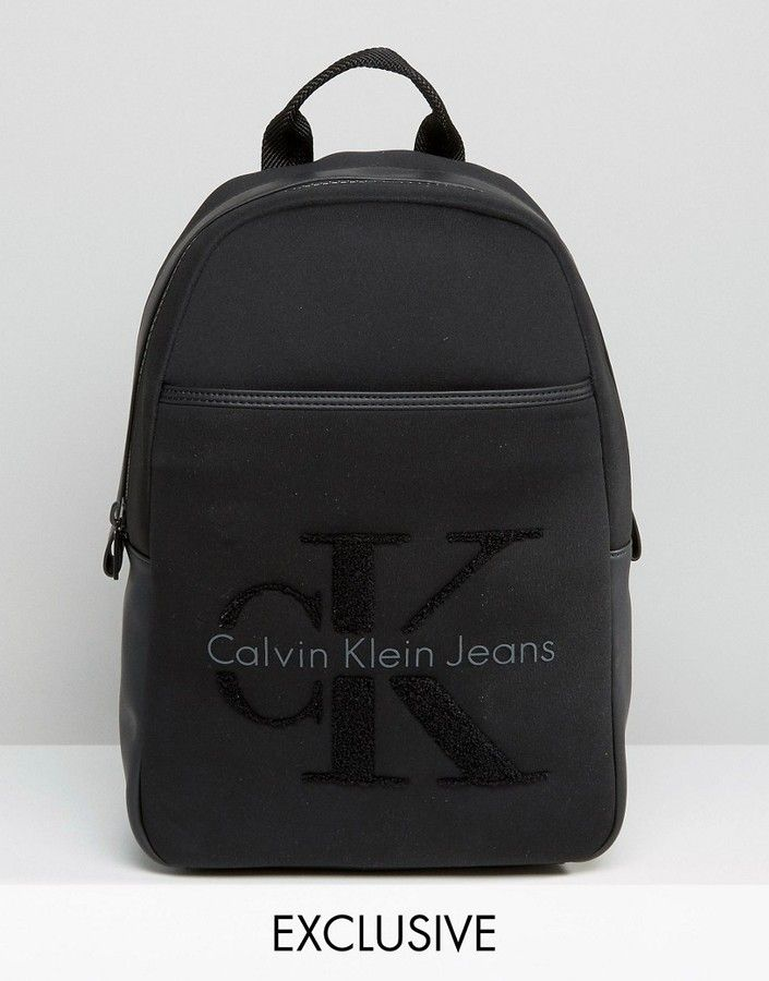 7b202149b86 Calvin Klein Exclusive Re-Issue Backpack With Faux Shearling ...