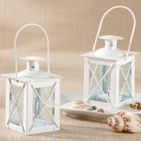 White Mini Lantern Wedding Favor Party City We could put this
