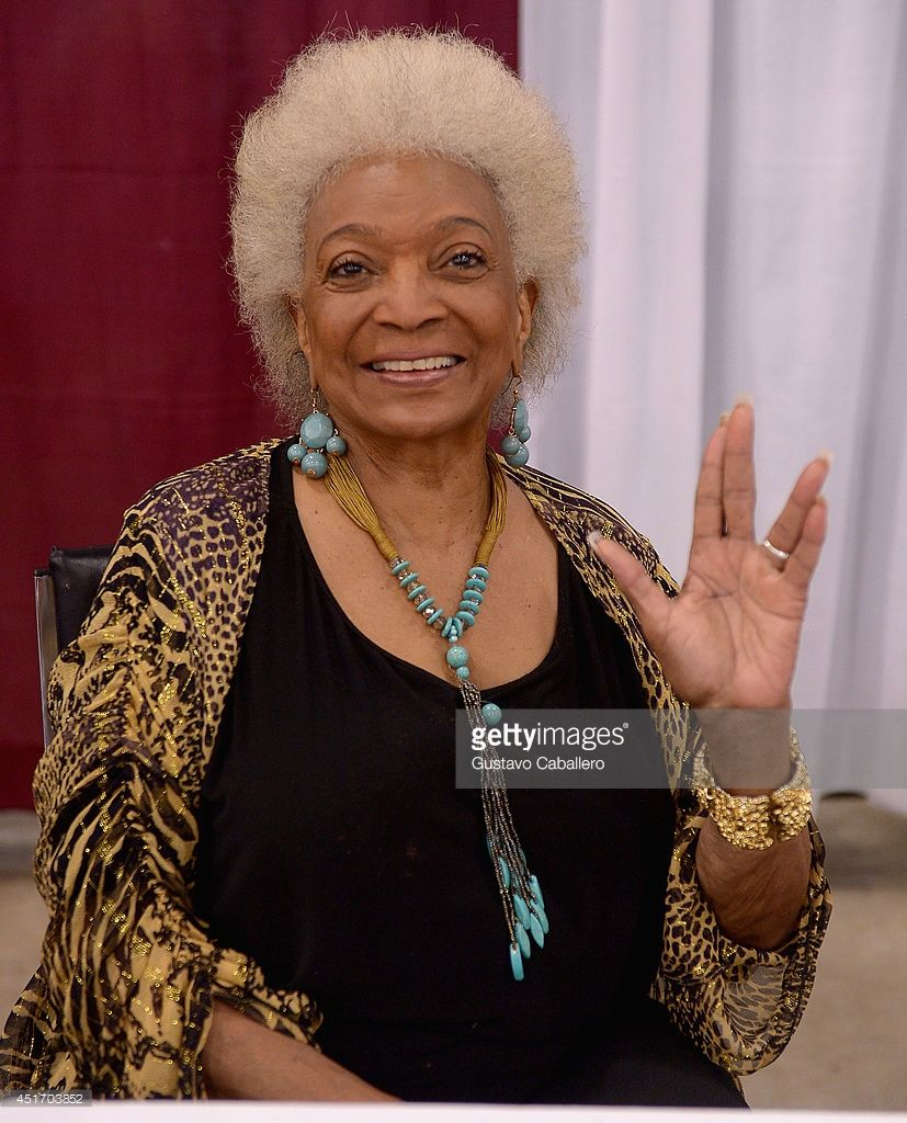 <a gi-track='captionPersonalityLinkClicked' href=/galleries/search?phrase=Nichelle+Nichols&family=editorial&specificpeople=730322 ng-click='$event.stopPropagation()'>Nichelle Nichols</a> attends Florida Supercon at the Miami Beach Convention Center on July 4, 2014 in Miami Beach, Florida.