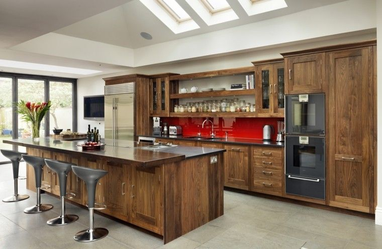 Cocina-moderna-madera-3jpg (760×496) Comedor Pinterest