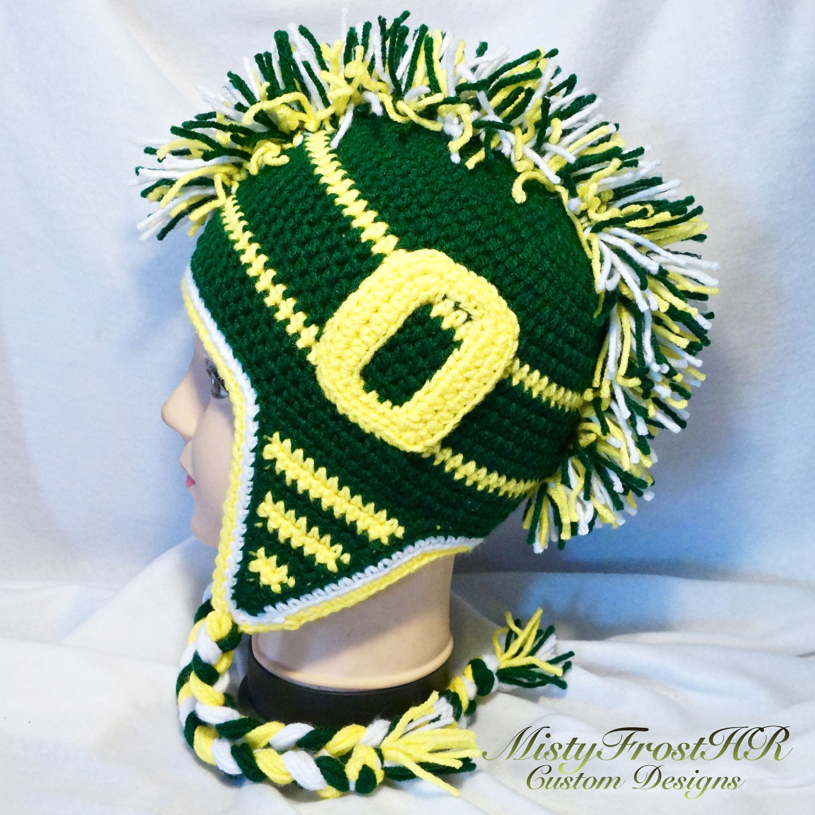 Crochet oregon ducks mohawk hat 35 logos are on both sides of crochet oregon ducks mohawk hat 35 logos are on both sides of the hat bankloansurffo Gallery