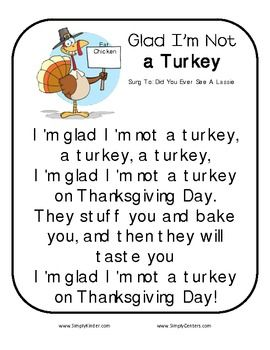Poems And Fingerplays Freebies Thanksgiving Lessons Preschool