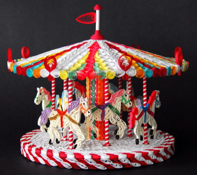 3D Quilled Carousel