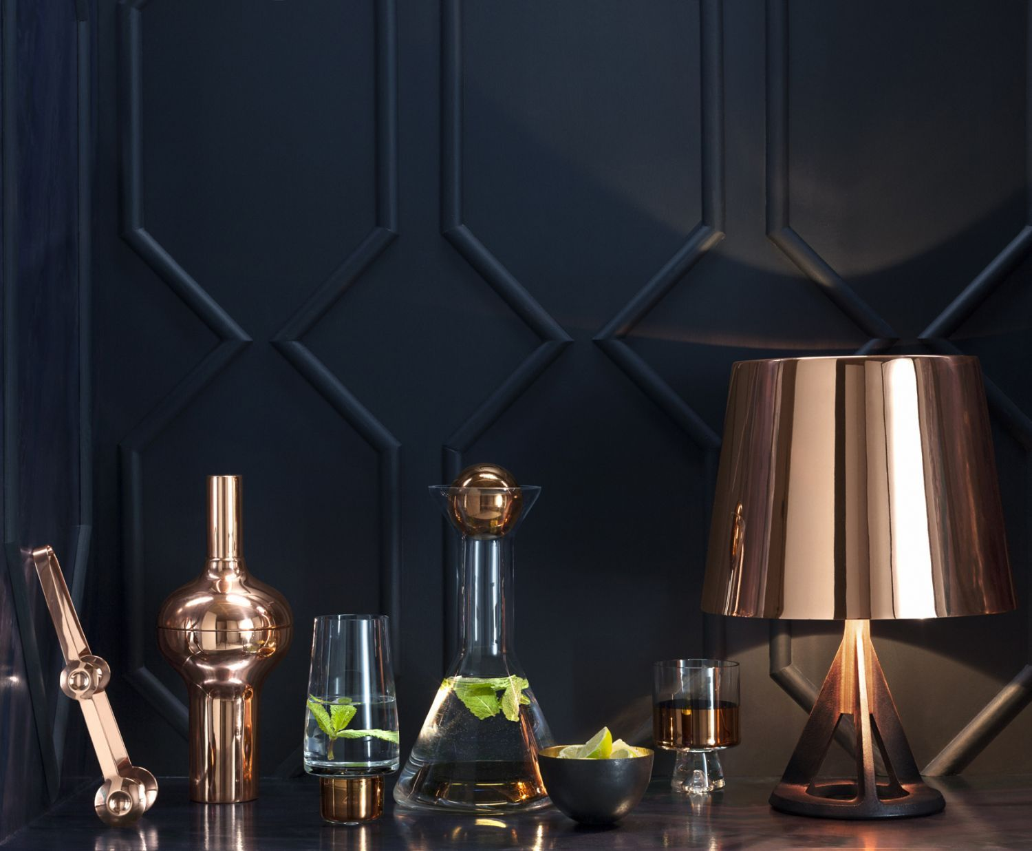 P A Robust Table Standing Light Made Of Brass The Base Collection Combines A Smooth Finished Brass Or A Highly Polishe Brass Wall Light Light Table Tom Dixon