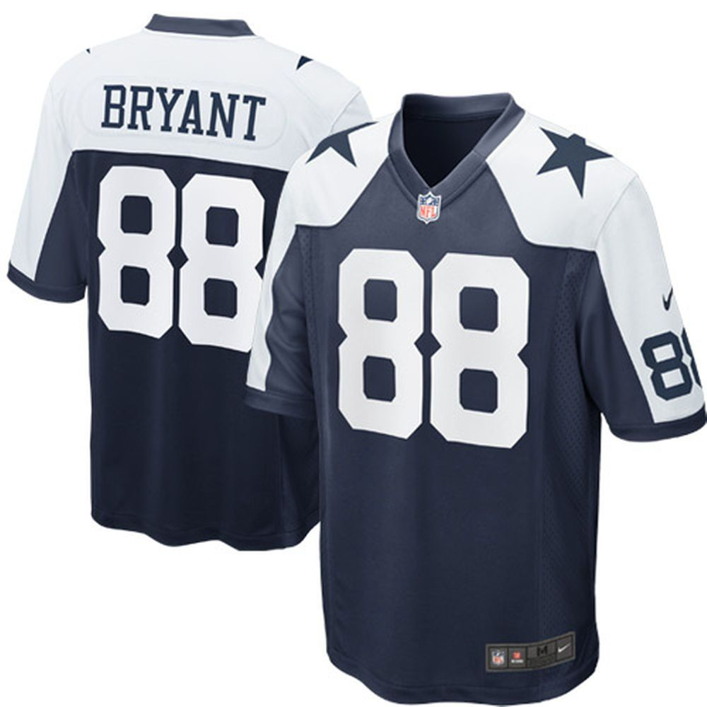 best service 64dc5 61f85 Nike Dez Bryant Dallas Cowboys Throwback Game Jersey - Navy ...