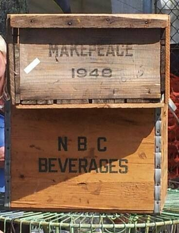 Vintage Wooden Cranberry Box//Crate Ocean Spray Cape Cod Makepeace
