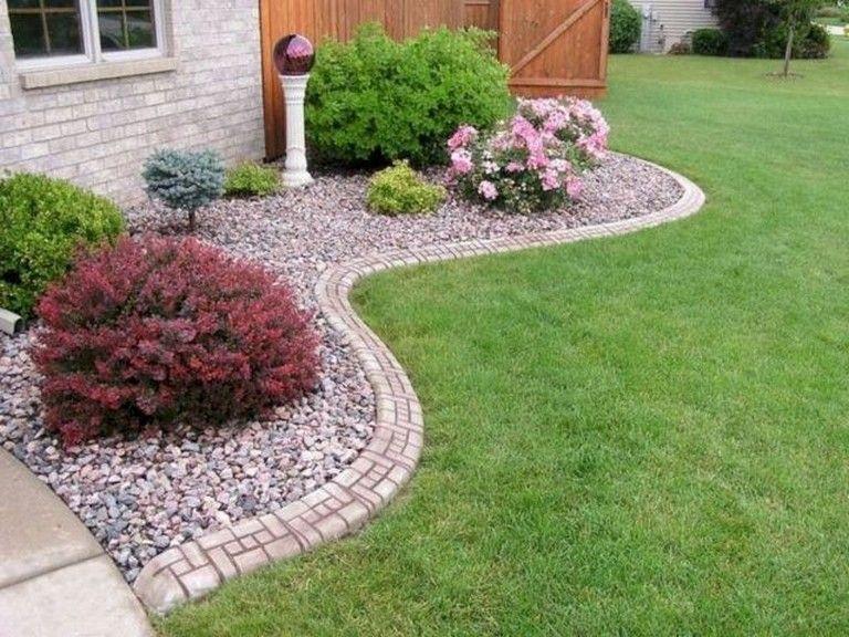 58 Beautiful Front Yard Rock Garden Landscaping Ideas Rock Garden Landscaping Landscaping With Rocks Garden Landscape Design