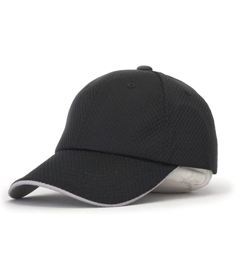 Plain Pro Cool Mesh Low Profile Adjustable Baseball Cap White