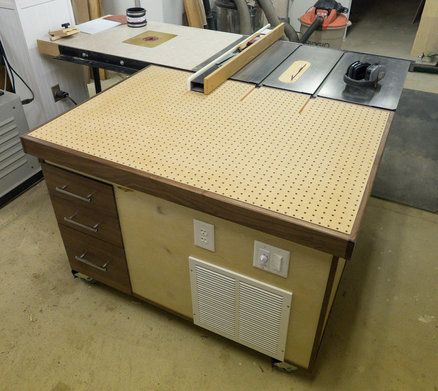Downdraft Outfeed Table Workshop In 2019 Woodworking