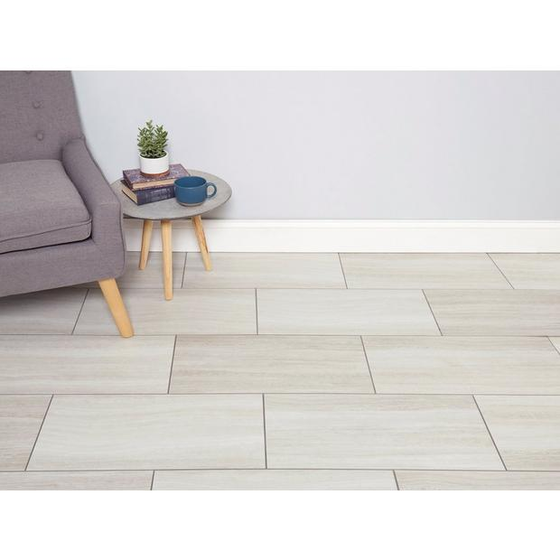 White Grouted Rigid Core Luxury Vinyl Tile - Cork Back ...