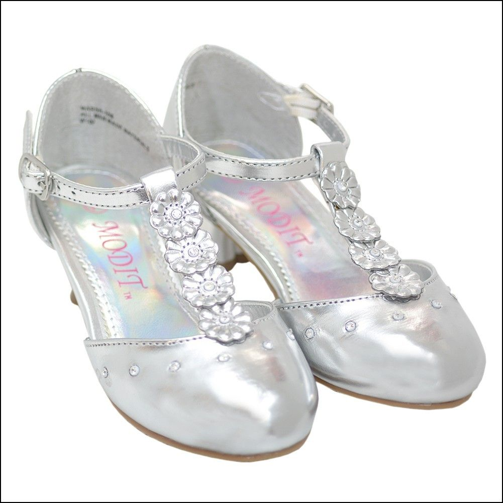 Little girl silver dress shoes dresses and gowns ideas pinterest