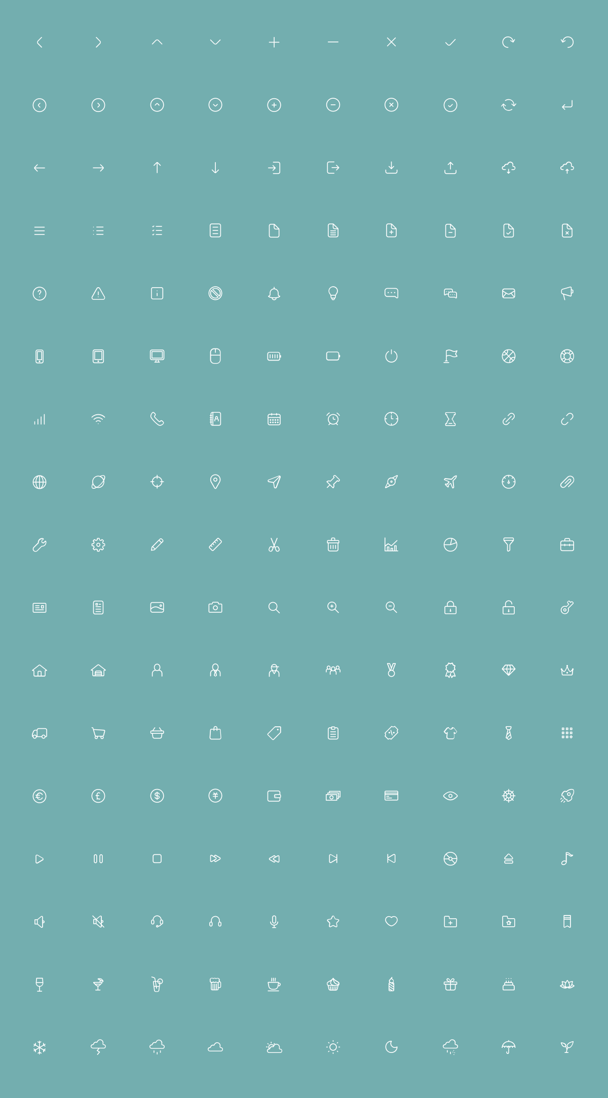 170 Thin Line UI Icons | The Free Icons | Pinterest
