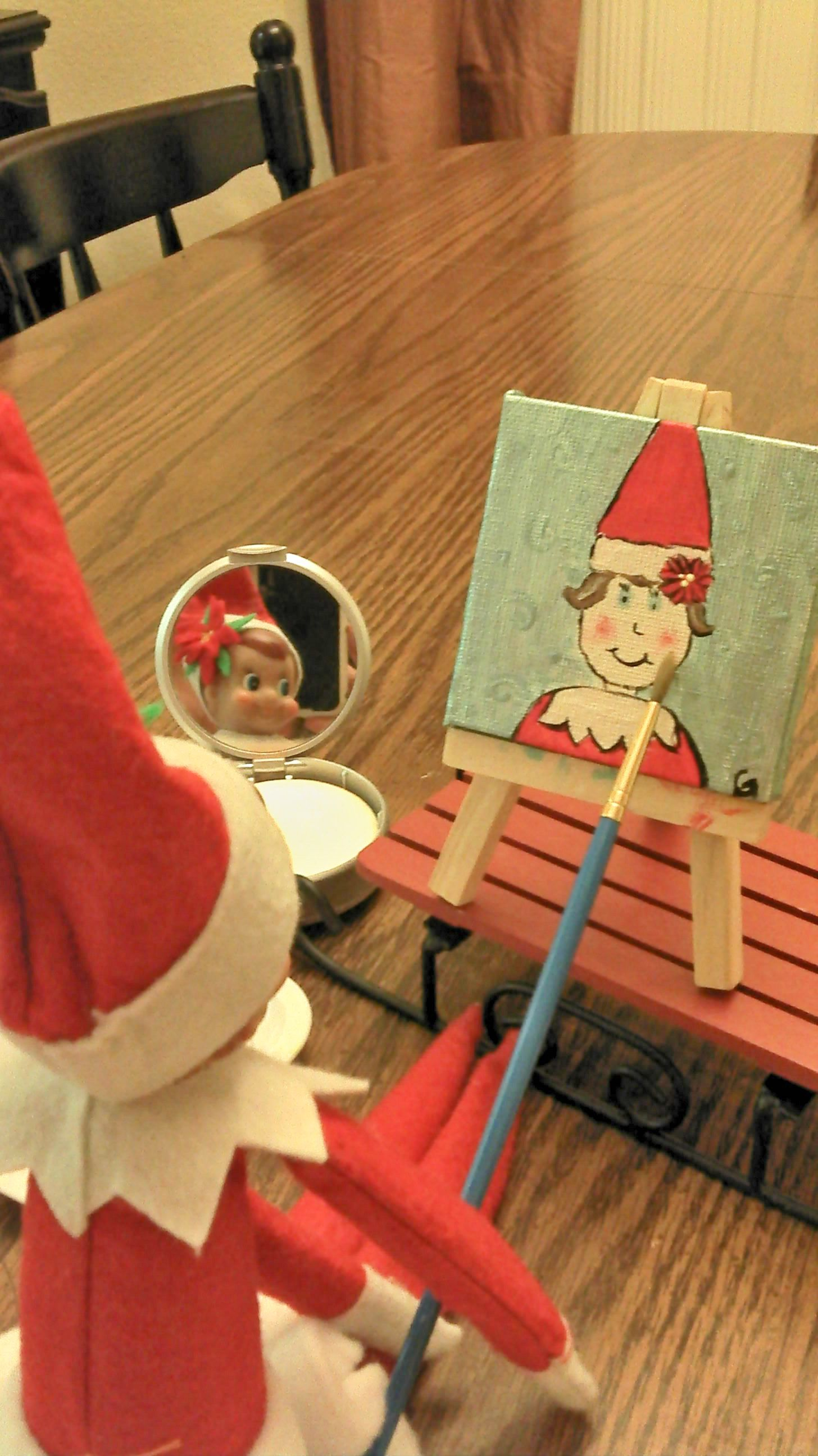Elf On The Shelf Painting A Picture