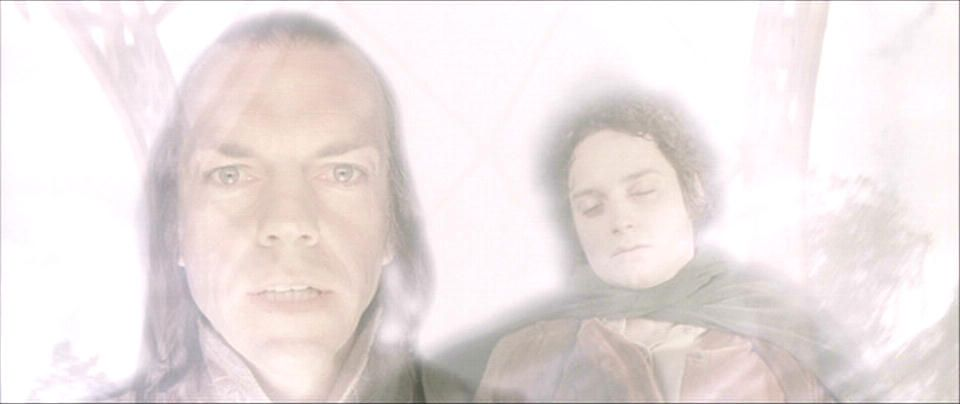 """""""I know a lot of us (myself included) are a little nervous regarding the overall quality of the Hobbit so let's take a moment to reflect upon the reality that this is a real screencap taken from the actual first Lord of the Rings movie. Like this was a real transition effect that was used in your favorite movie and I think we have collectively suppressed it from our memories so I suggest that we now come to terms with it."""""""
