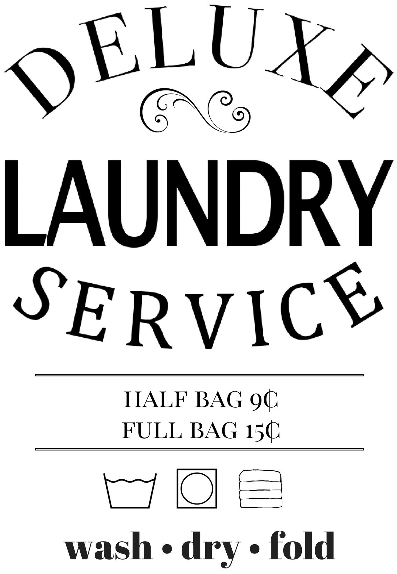 Vintage Laundry Hamper Decal Eclectic Momsense Laundry