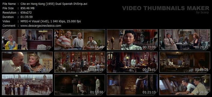 Cita en Hong Kong (1955) - Edward Dmytryk - Clark Gable, Susan Hayward - 20th Century-Fox