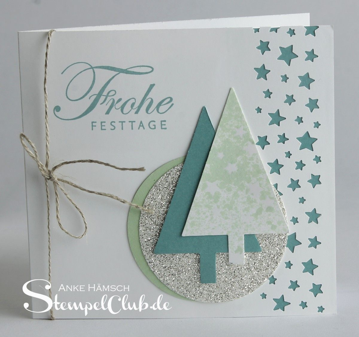 Stempelclub Leipzig - mit Stampin' Up!® Weihnachtskarte, Christmas, Christmas tree, Festival, Sternenstanze #stampinup!cards