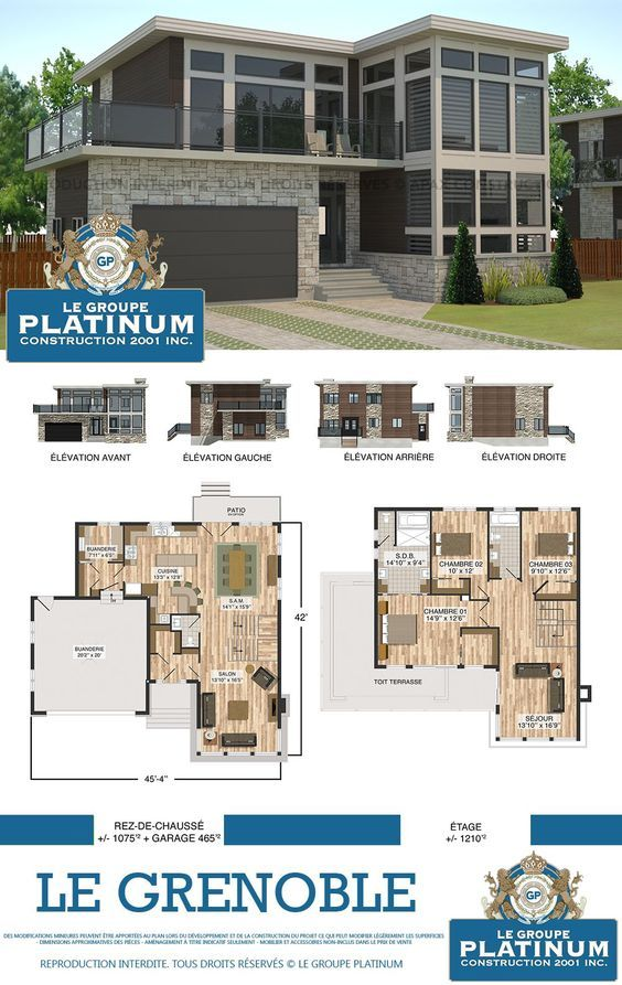 Modèle de maison neuve  Le Grenoble - Le Groupe Platinum