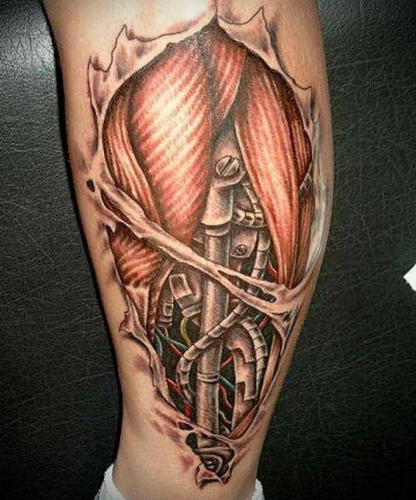 tattoo bein ideen biomechanisch tattoos pinterest. Black Bedroom Furniture Sets. Home Design Ideas