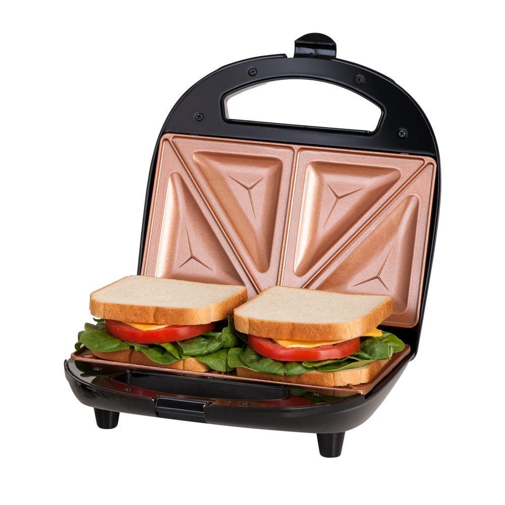the latest 25b76 23952 Gotham Steel Ti-Ceramic Black Non-Stick Sandwich Maker 2108 ...