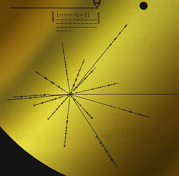 Gold plate on voyager