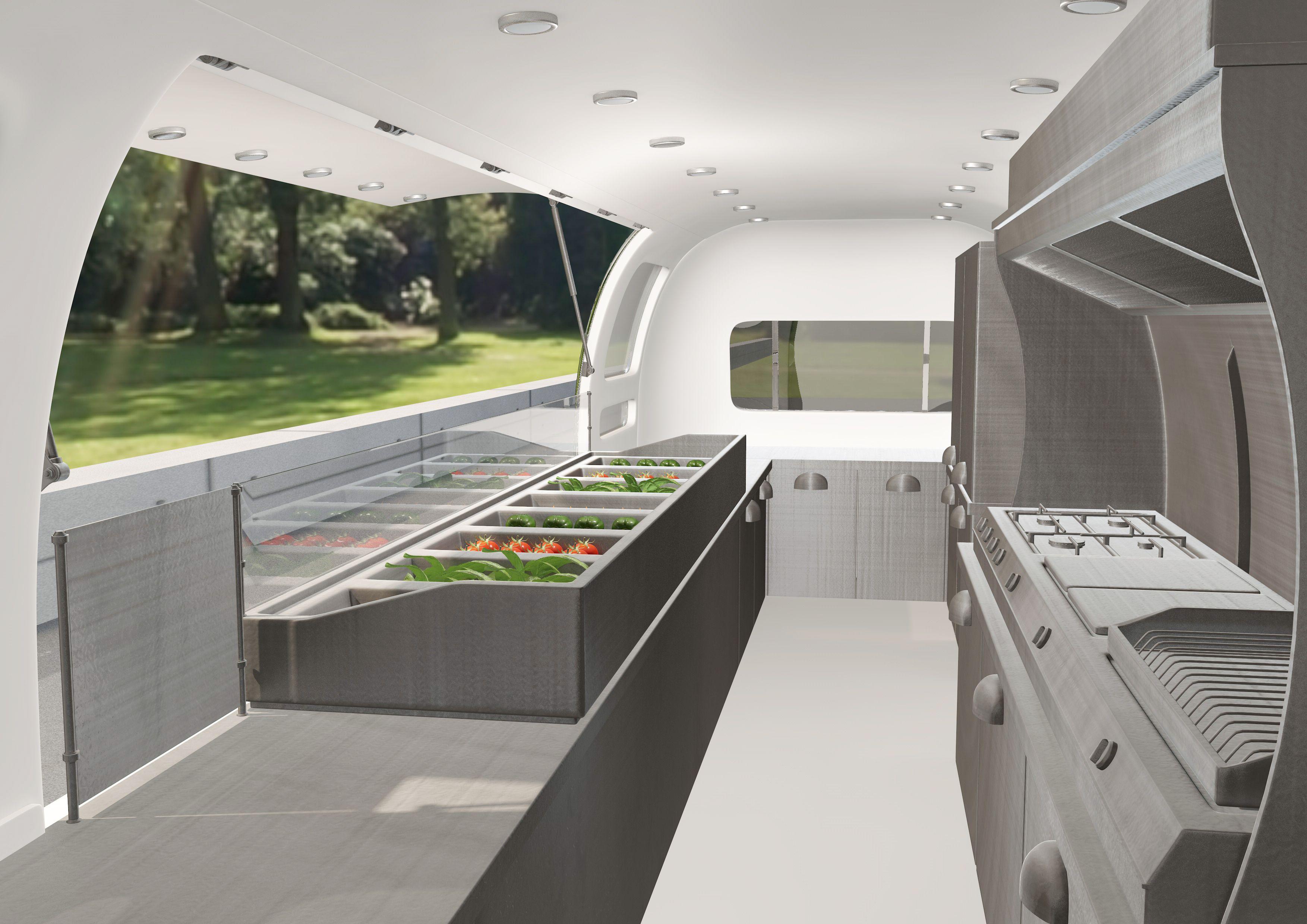 professionell ausgestattete gastro küche | architektur