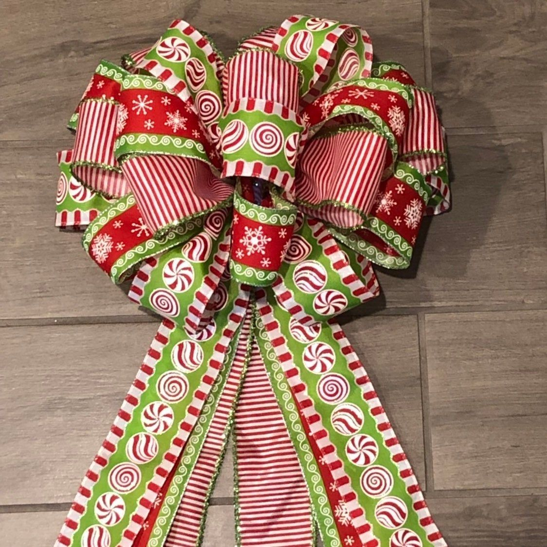 Tree Topper Bow, Large Christmas Bow for Christmas Tree or