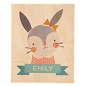 Young and Wild Personalized Art (Bunny)