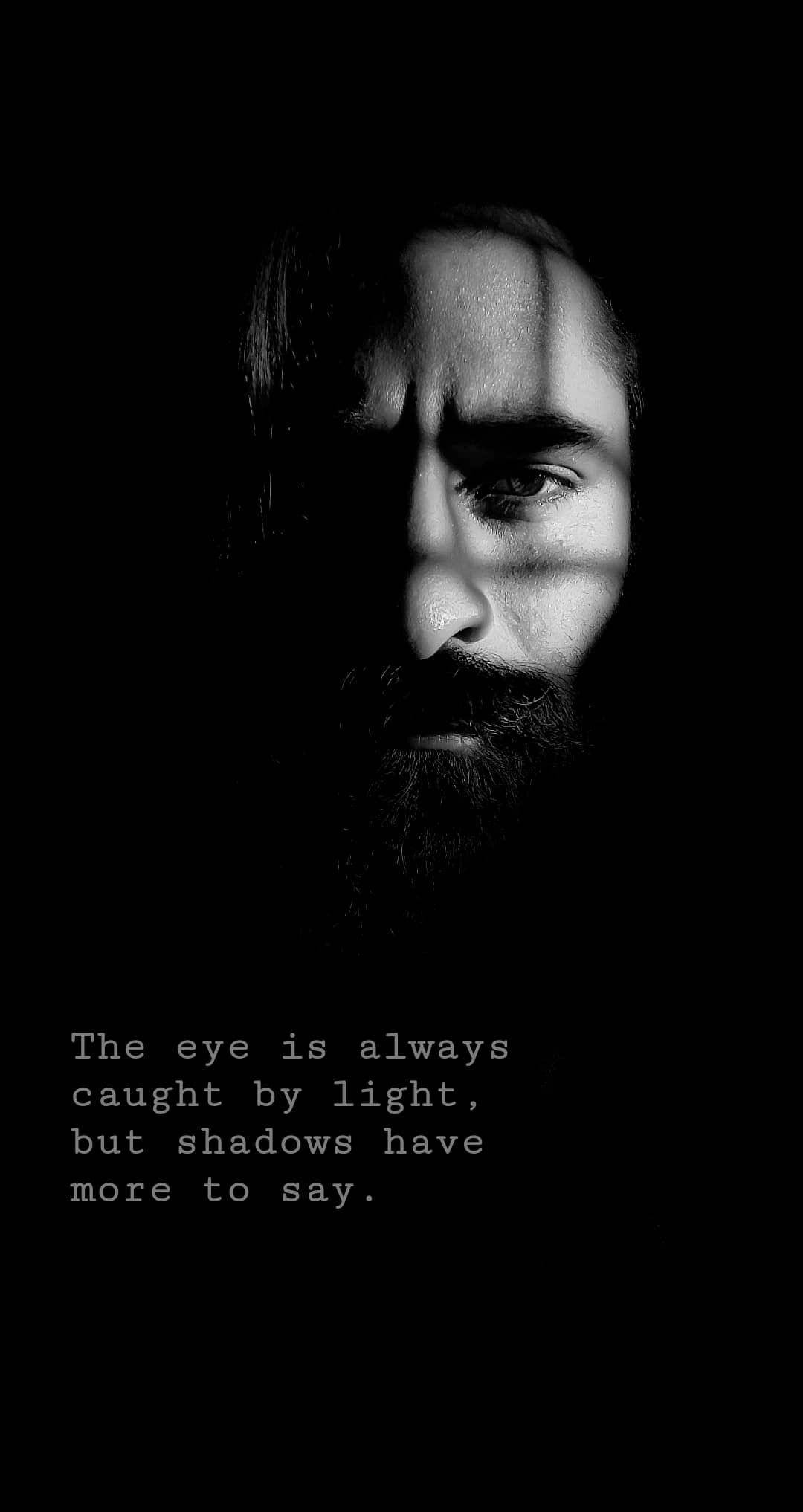 Black And White Photography Beard Love Quote Love Wallpaper