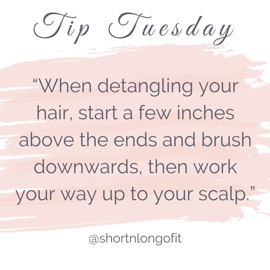 Everyone should already know this one... especially my long haired friends!💁🏻♀️🙅🏽♀️🙆🏼♀️ _____ #tiptuesday #tuesdaytips #goodhairday #haircare #skincare #monat #shampoo #hairboss #bossbabe #longnshortofit